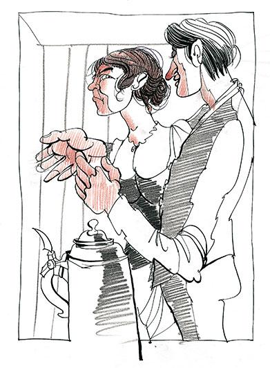 Illustration zum Buch -die Grattler-Oper-