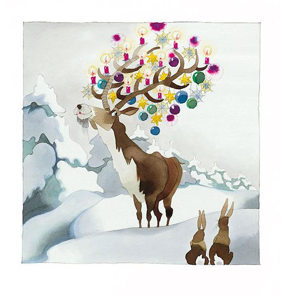 Marianne-Strauß-Stiftung Kalender - Weihnachtshirsch