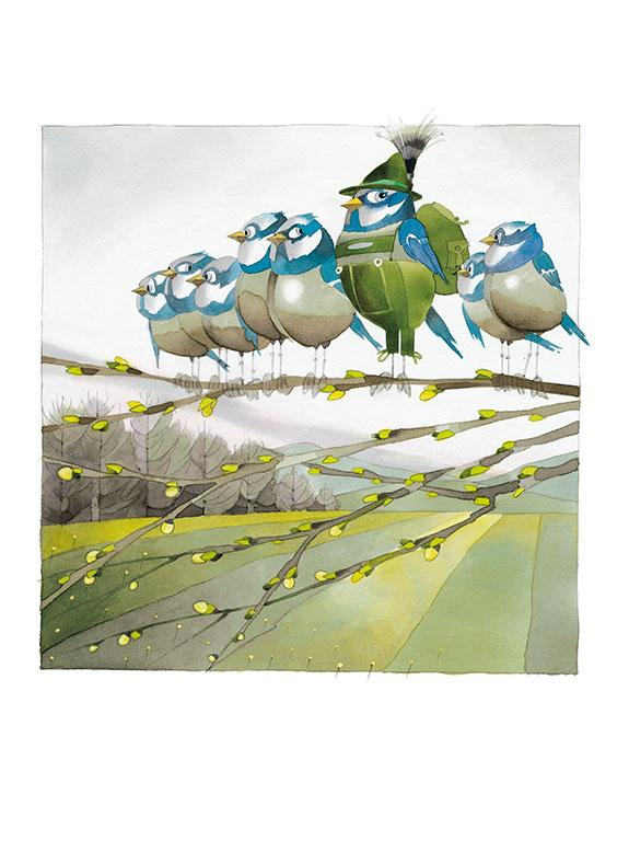 Marianne-Strauß-Stiftung Kalender - Wandervögel