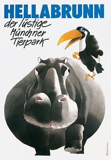 Plakat Tierpark Hellabrunn