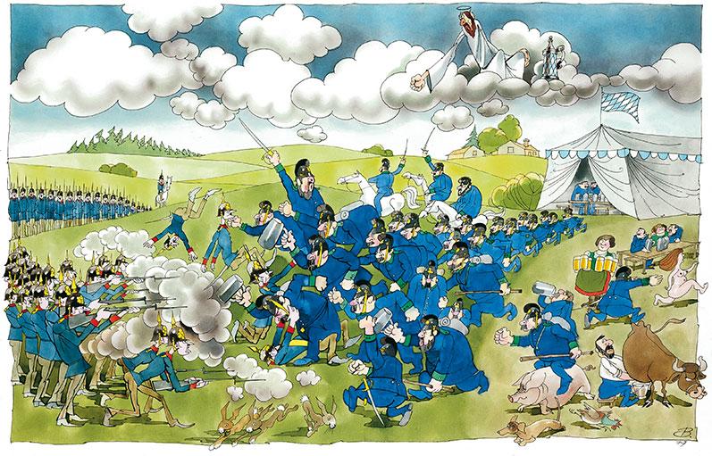 Schlacht der Bayern gegen die Preußen