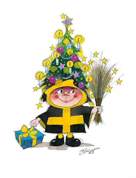 Blaumeisers Münchner Kindl an Weihnachten