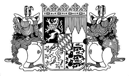 Das unterwanderte baierische Wappen (Wolpertinger)