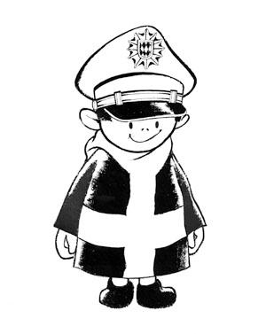 Münchner Kindl bei der Polizei