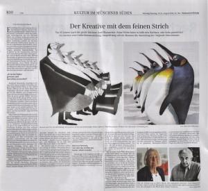 Artikel in der Süddeutschen Zeitung zum 25. Todesjahr von Josef Blaumeiser